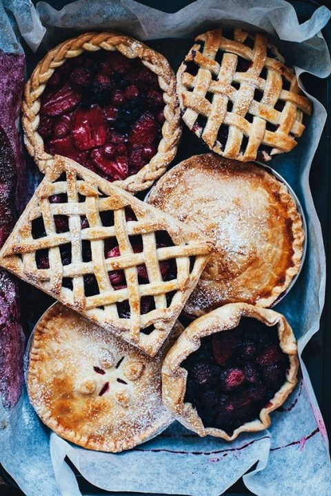 berry pies can be a nice alternative to a usual wedding cake