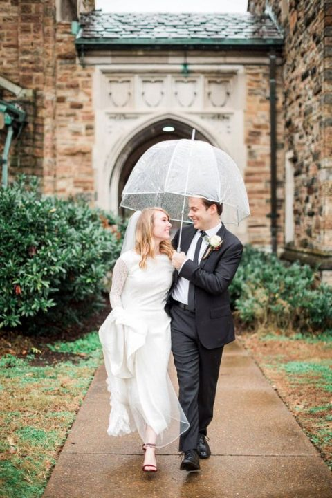 consider going to the reception indoors instead of a cocktail hour outdoors if it started raining