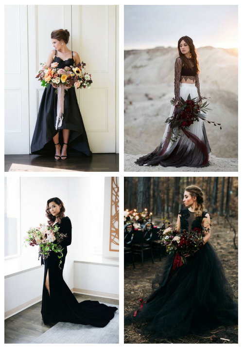 28 chic halloween wedding dresses