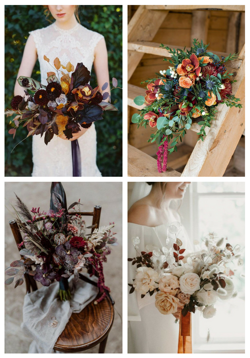 30 Inspiring Fall Wedding Bouquets | HappyWedd.com