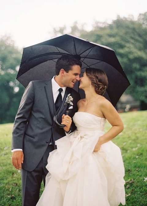 make a contrast with a bold umbrella, for example, a black one