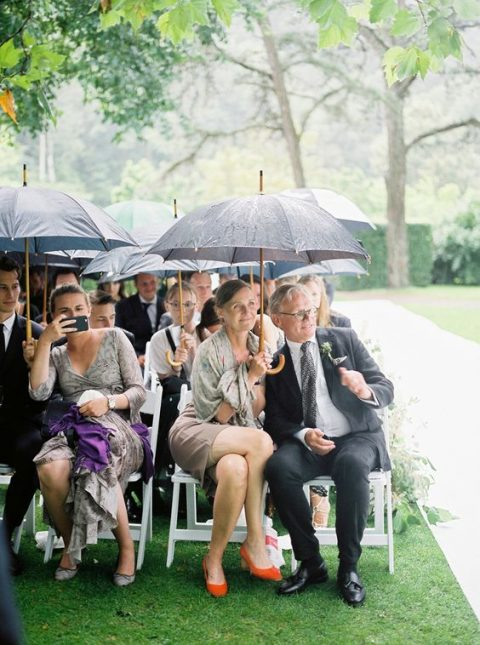 provide your guests with umbrellas if the day is rainy