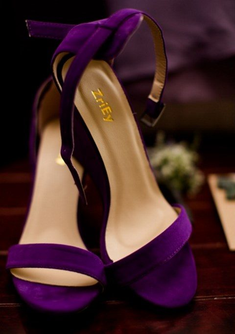 chic purple suede heeled sandals to add a colorful touch