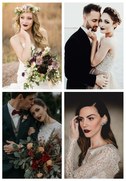 16 Edgy Dark Lip Ideas For Brides