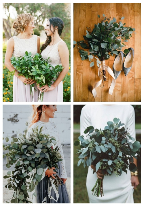 main 24 Edgy Greenery Wedding Bouquets To Rock