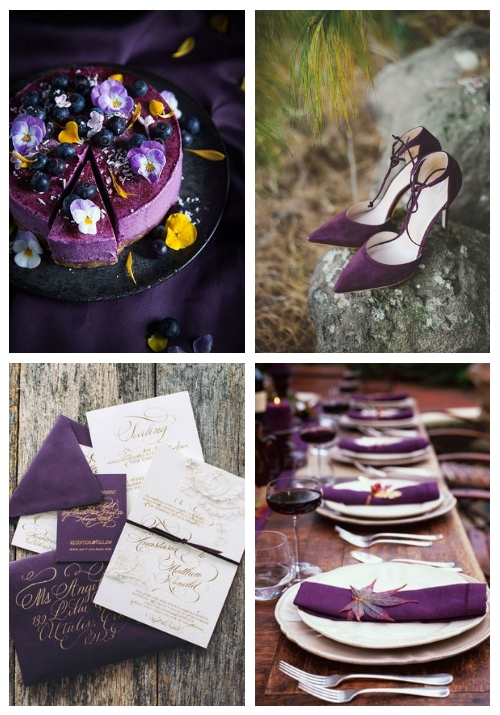30 Stylish Ways To Rock Purple At A Fall Wedding