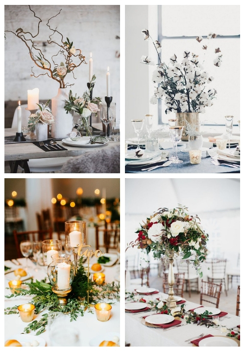 main 30 Winter Wedding Centerpieces