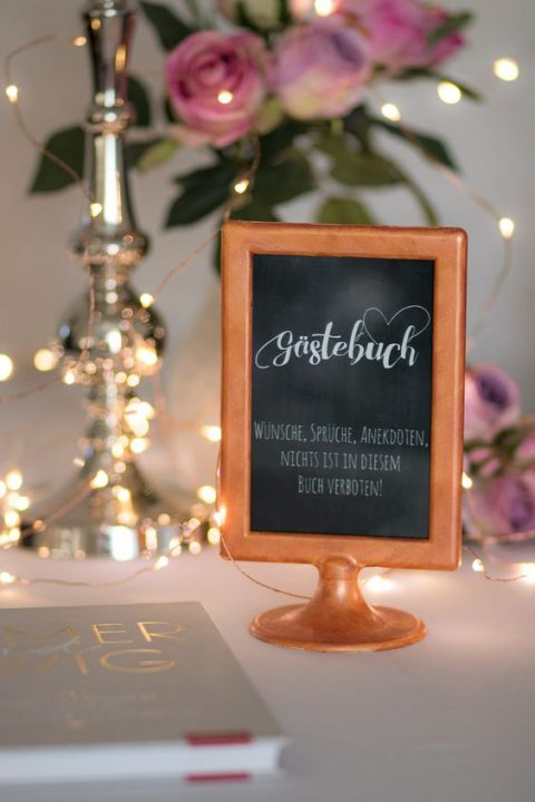 IKEA Tolsby frame in copper for presenting your guest book