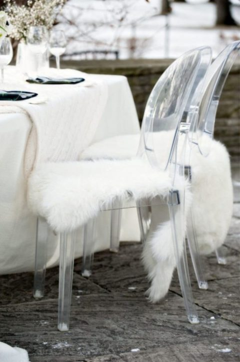 Rens Sheepskin Throws are what you need for a fall or winter wedding to keep people warm