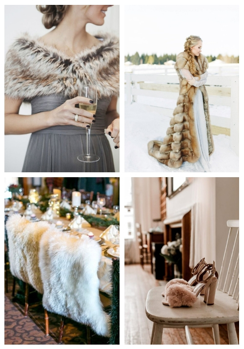 20 Chic And Cozy Fur Wedding Ideas