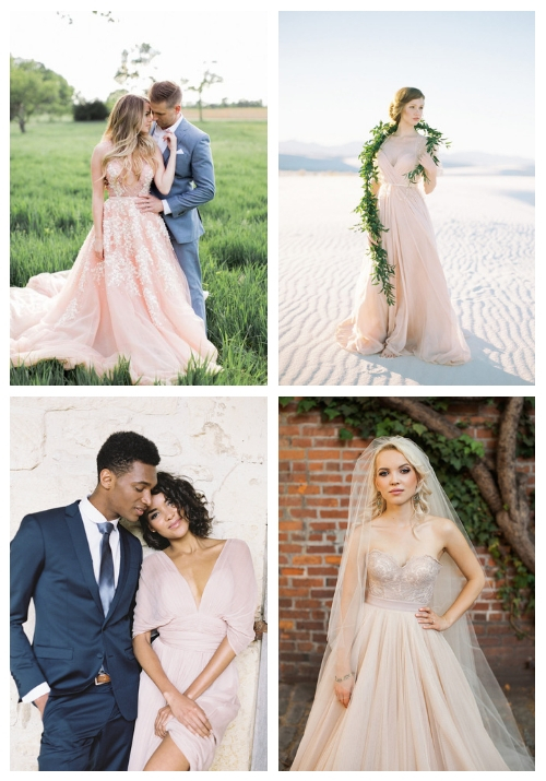 23 Romantic Blush And Pink Wedding Dresses Happywedd Com