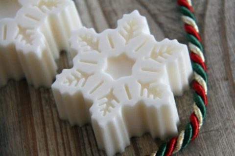 snowflake shaped soaps
