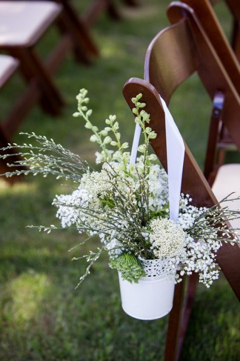 use Skurar pots to line up your wedding aisle with flowers and greenery