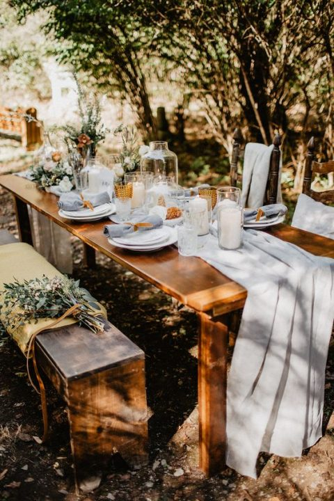 an outdoor garden reception is ideal for a brunch wedding