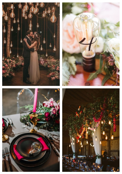 20 Edgy Edison Bulb Wedding Ideas