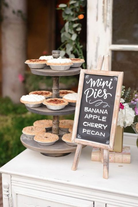 make some little chalkboard signs in frames to mark your sweets