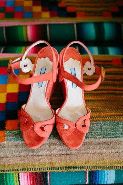 whimsy coral wedding heeled sandals with ankle straps