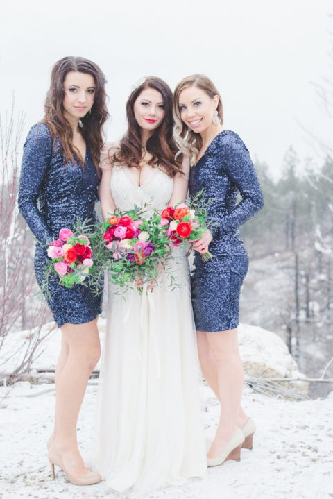 blue sequin mini sheath bridesmaid dresses with long sleeves