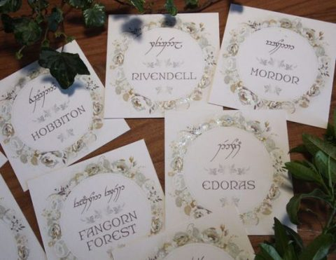 wedding stationery in the Lord of the Rings style