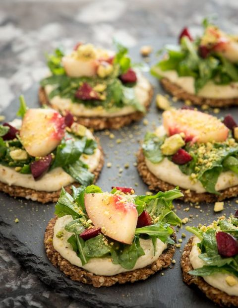 dried cherry crackers with pine nut pepper cheese