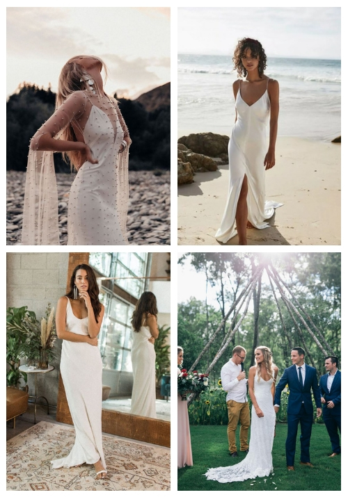 18 Slip Wedding Dresses For Minimalist Brides