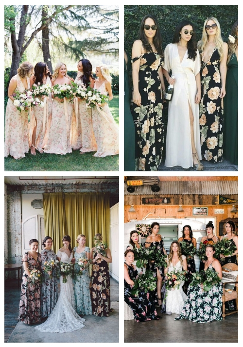 21 Beautiful Floral Bridesmaid Dresses