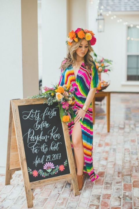 proper signage is a must for an outdoor bridal shower for people to know where to go