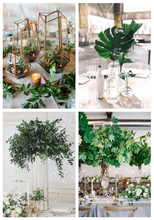 main 26 Greenery Wedding Centerpieces That Inspire 2