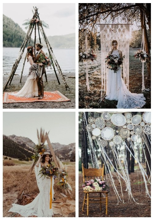 main 34 Boho Wedding Arches And Backdrops That Inspire