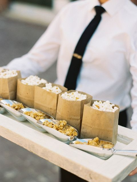 bags with salted and caramel corn are very budget-friendly