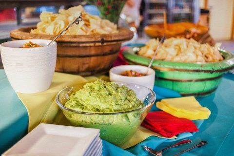 chips, salsa and guacamole will please the guests and let them choose what they like