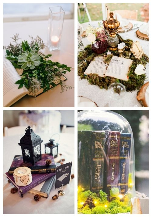 27 Creative Book Wedding Centerpieces