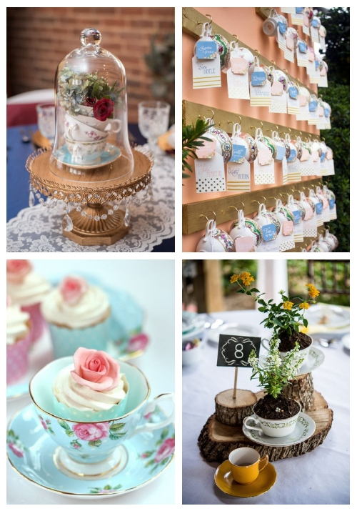 25 ways to use vintage teacups at your wedding