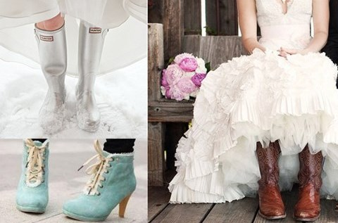 59 Cool Winter Bridal Shoes Boots And Flats To Get Inspired Hywedd