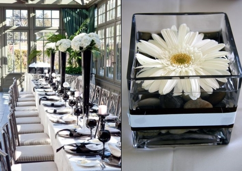 46 cool black and white wedding centerpieces happywedd com rh happywedd com black and white centerpieces diy black white gold centerpieces