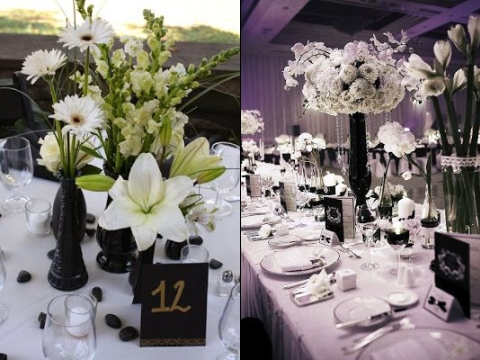 46 cool black and white wedding centerpieces happywedd com rh happywedd com black white party centerpieces black and white centerpieces diy