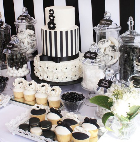 black and white wedding cake table 56 black and white wedding dessert tables 11854