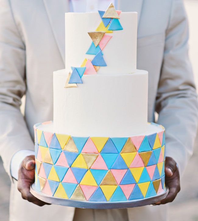 37 Stylish Geometric Wedding Cakes