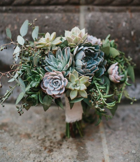 wedding bouquets with succulents 75 succulent wedding bouquets happywedd 8545