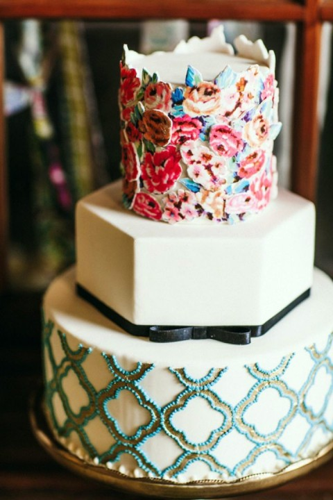 boho wedding cakes 32 amazing boho chic wedding cakes happywedd 12084