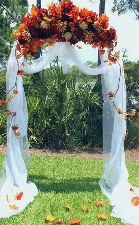 wedding ideas autumn 46 outdoor fall wedding arches happywedd 27741