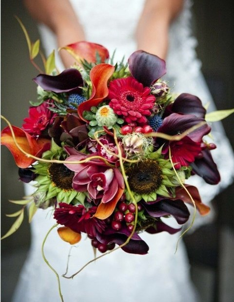 108 Fall Wedding Bouquets That Inspire