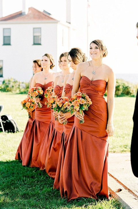 fall wedding bridesmaid dresses 42 stunning fall bridesmaids dresses happywedd 4021