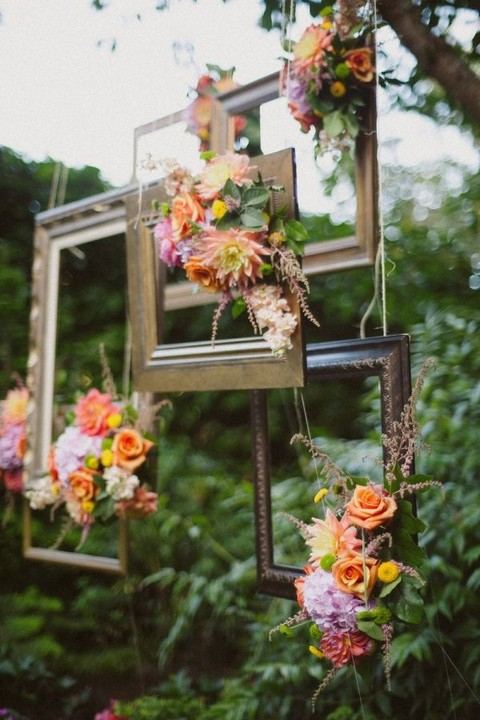 Frames For Wedding Decor: 42 Ideas