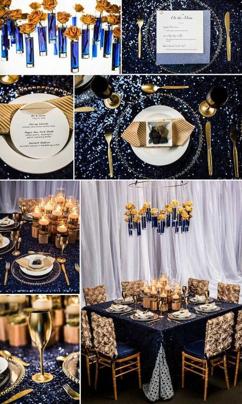 Gold And Blue Wedding Theme The Best Wedding Picture In The World