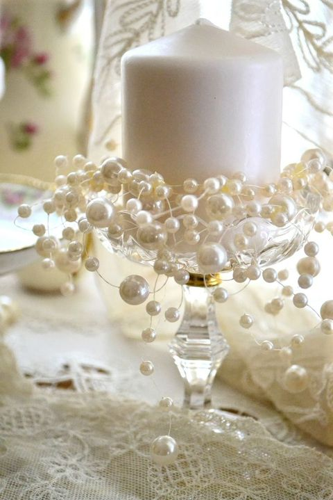 pearl wedding decor 47 chic pearl wedding ideas happywedd 6423
