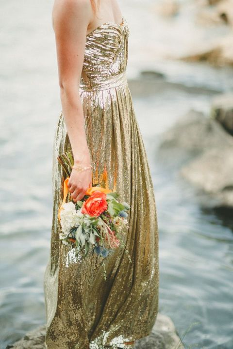 34 Fabulous Gold Wedding Dresses