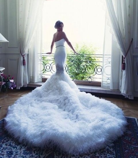 45 Breathtaking Wedding Dresses With Trains