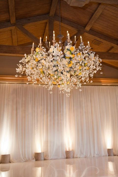 wedding chandelier decorations 105 greenery and floral chandeliers for your wedding 8955