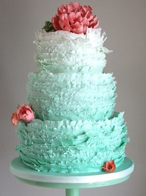 54 Cute Ruffle Wedding Cakes To Excite You